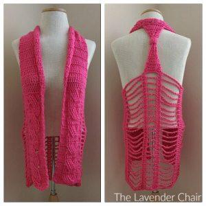 Cabled Vest Crochet Pattern