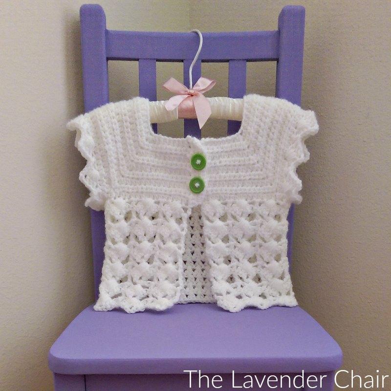 Textured Fan Baby Cardigan Pattern