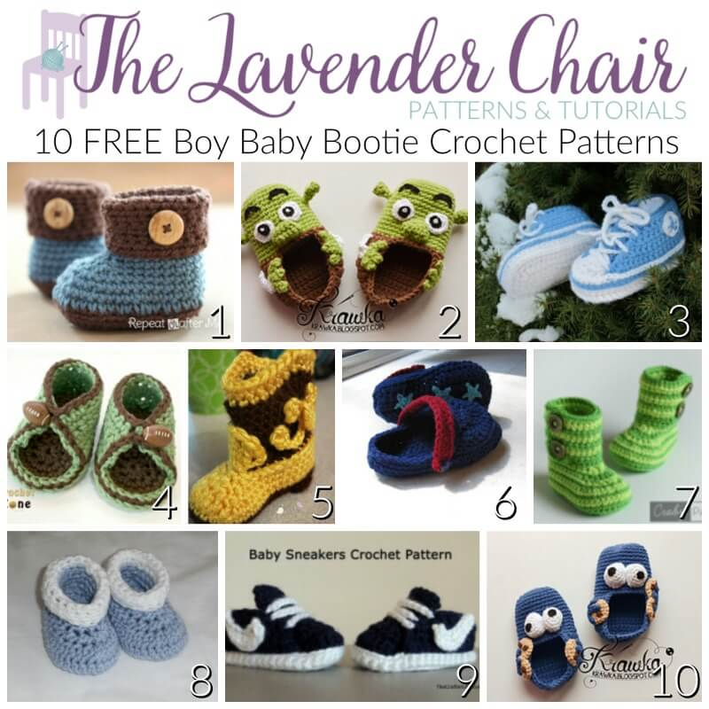 Free baby bootie crochet patterns for boys the lavender chair dt1010fo