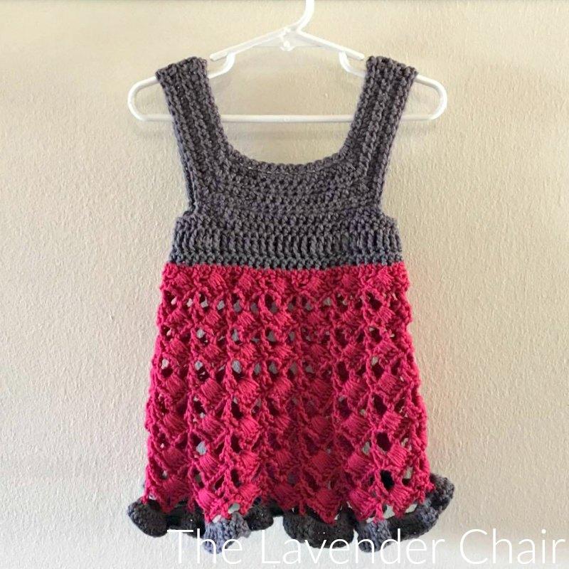 Textured Fan Dress Crochet Pattern