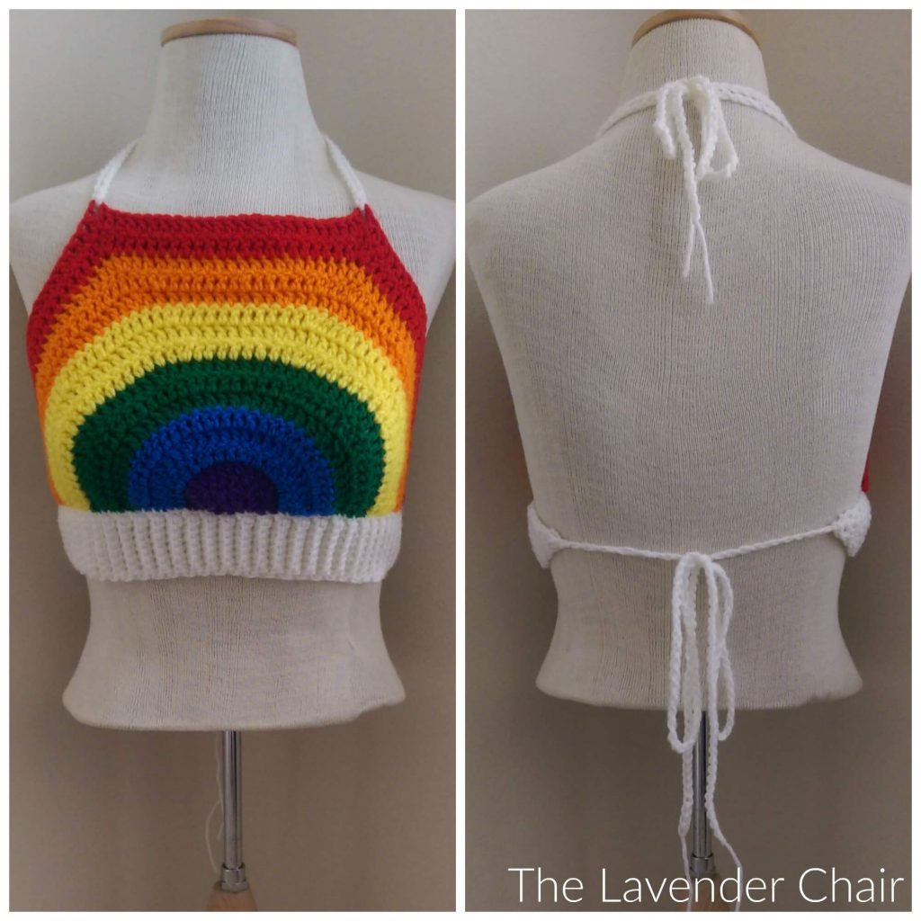 Rainbow Crop Top Crochet Pattern