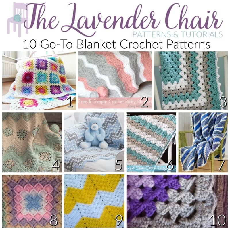 10 Go To Blanket Crochet Patterns The Lavender Chair
