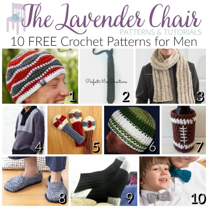 Free crochet patterns for men the lavender chair dt1010fo