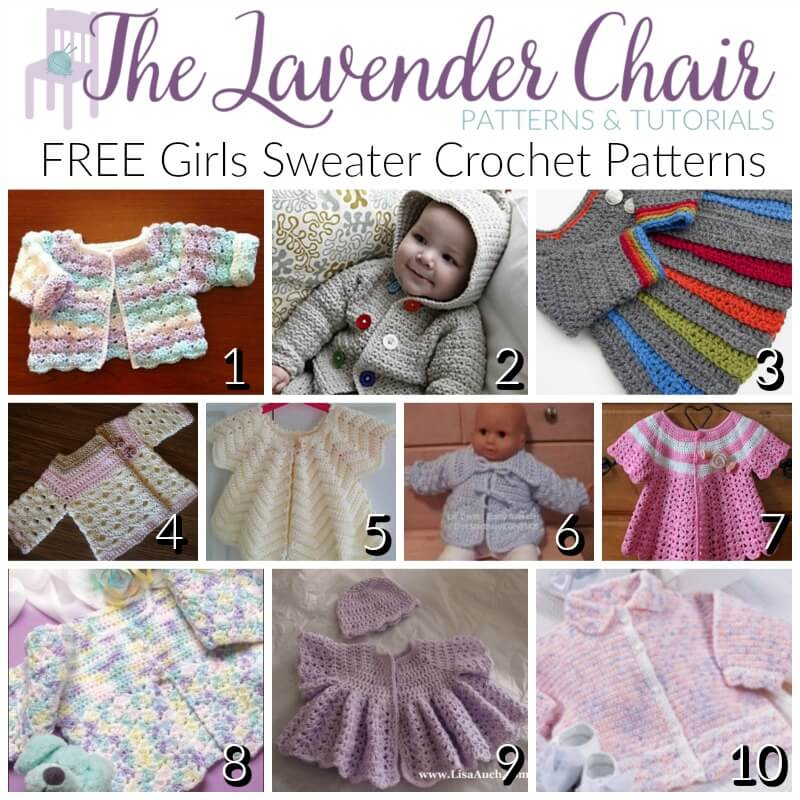 Free girls sweater crochet patterns the lavender chair dt1010fo