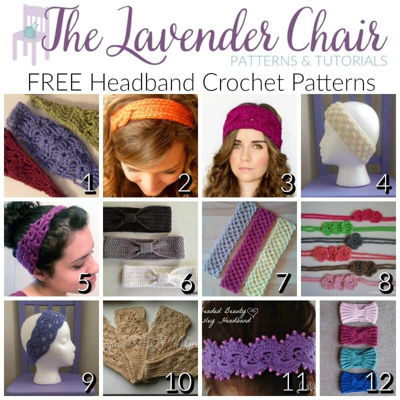 Free headband crochet patterns the lavender chair dt1010fo