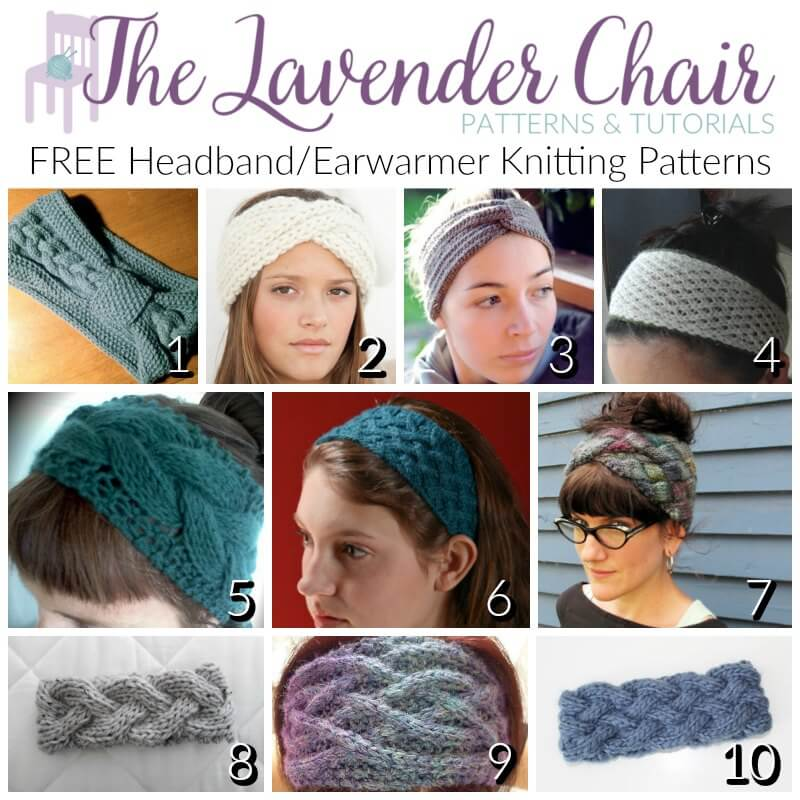 Free headbandearwarmer knitting patterns the lavender chair dt1010fo