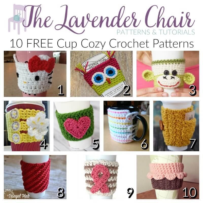 10 Free Cup Cozy Crochet Patterns The Lavender Chair