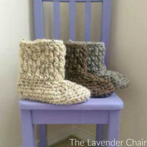 Brickwork Slipper Crochet Pattern