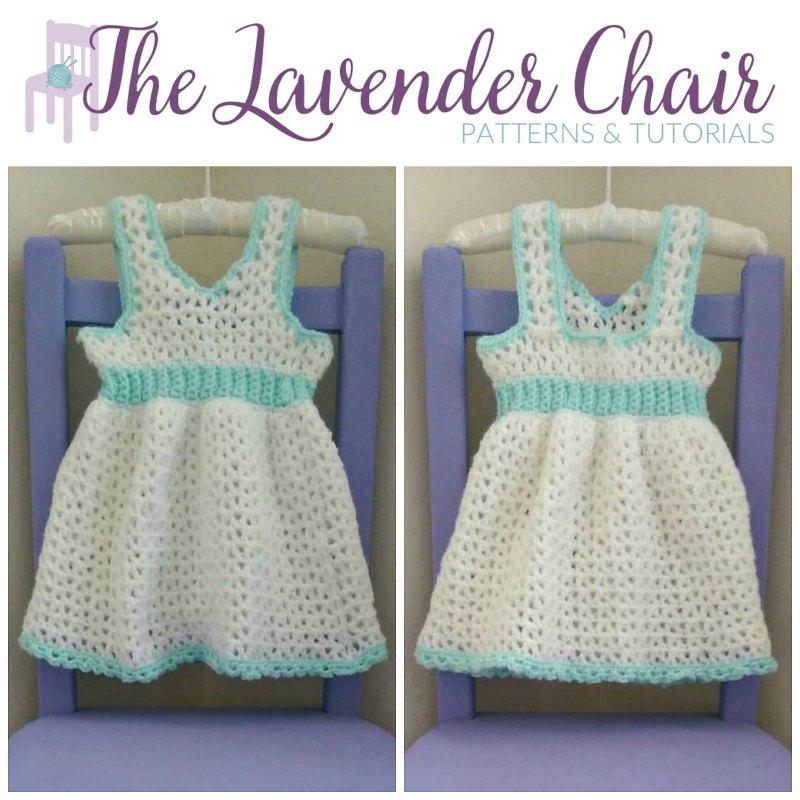 Valerie's First Birthday Dress (0-3 Months) Crochet Pattern