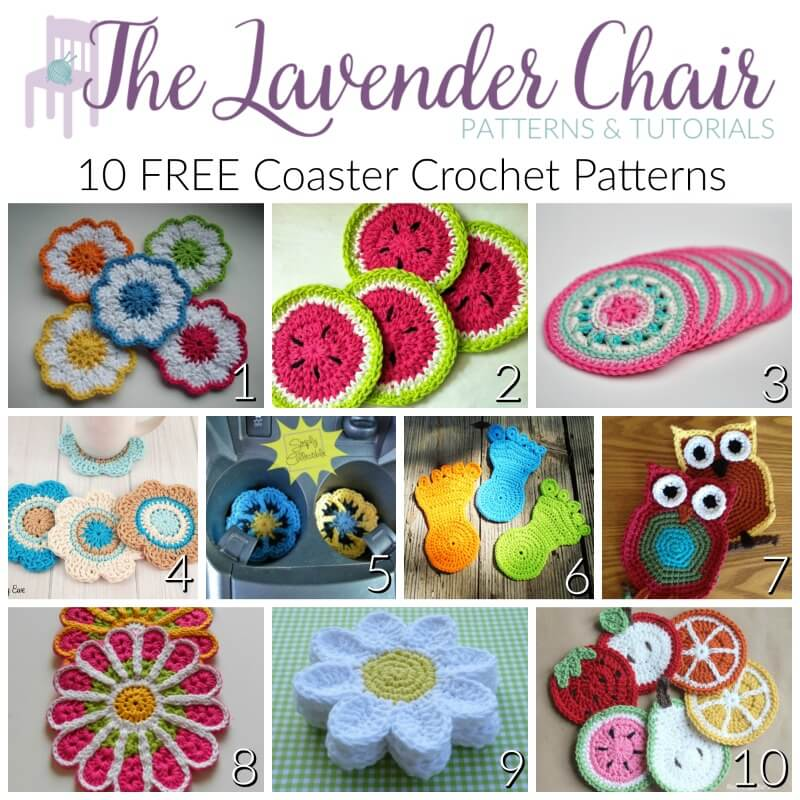 10 Free Coaster Crochet Patterns The Lavender Chair