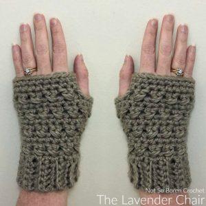 Crossed Double Fingerless Gloves Crochet Pattern