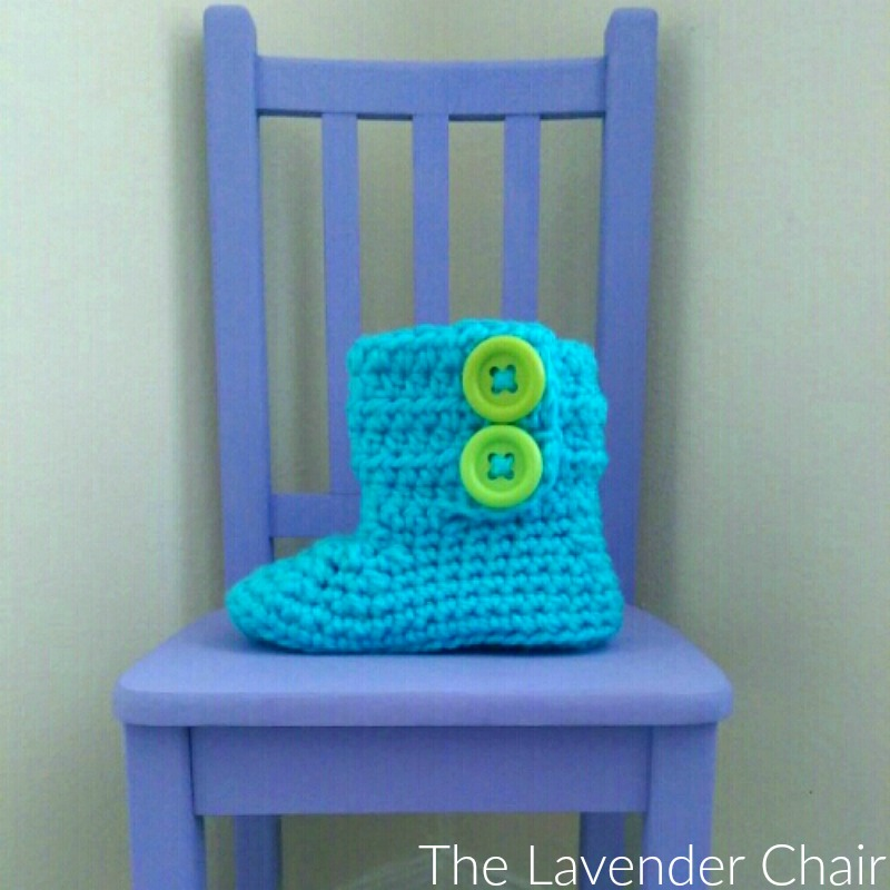 Chunky 2 Buttoned Slipper Crochet Pattern