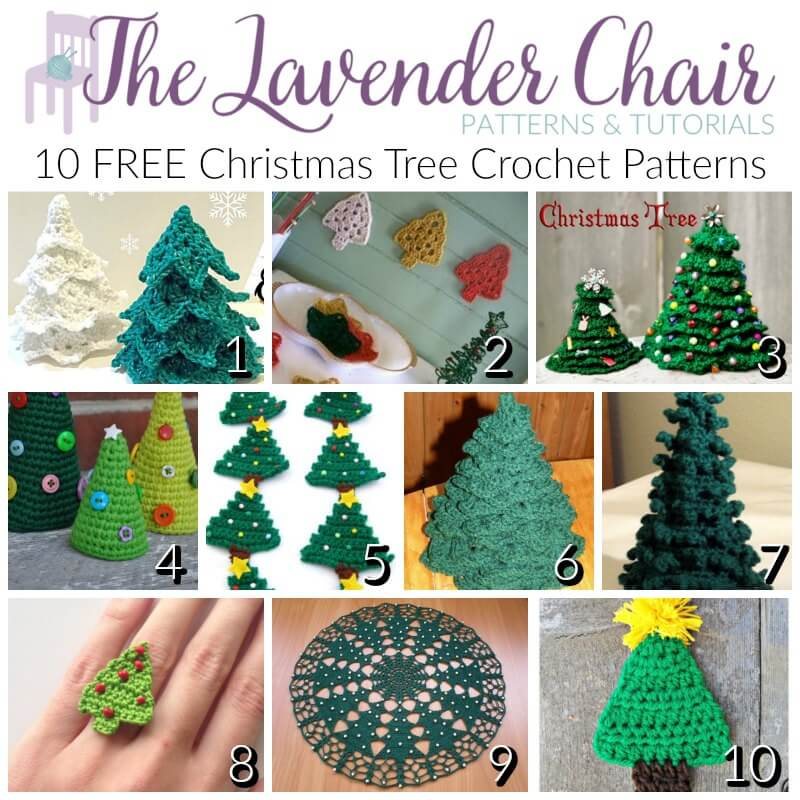 Free christmas tree crochet patterns the lavender chair dt1010fo