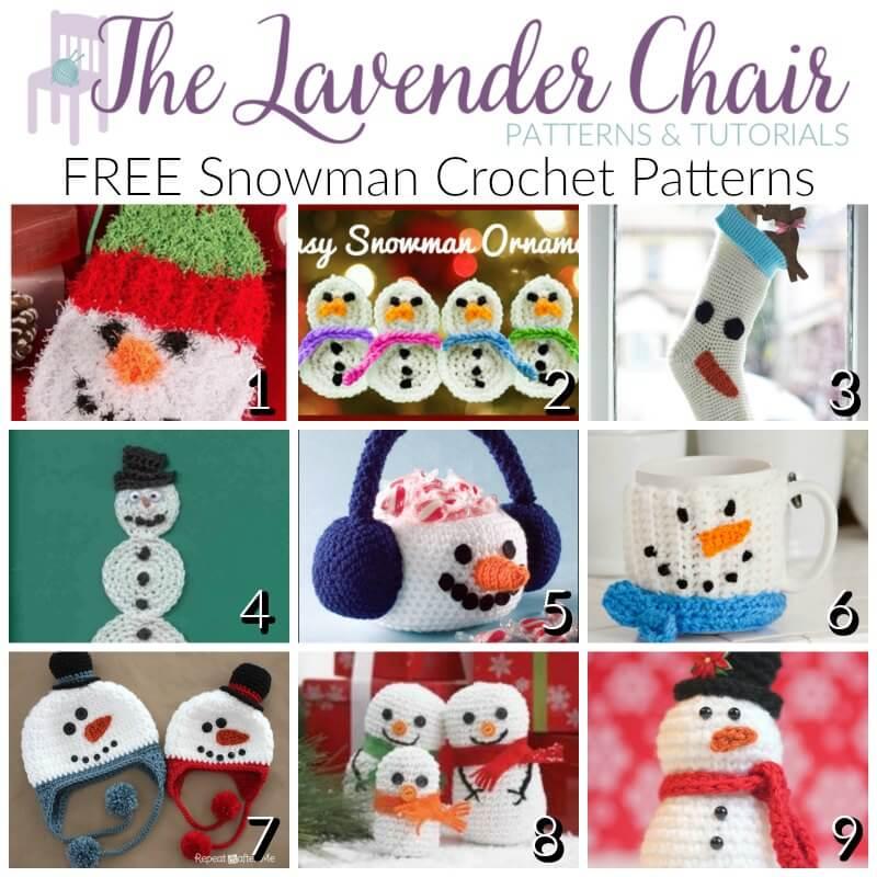 FREE Snowman Crochet Patterns