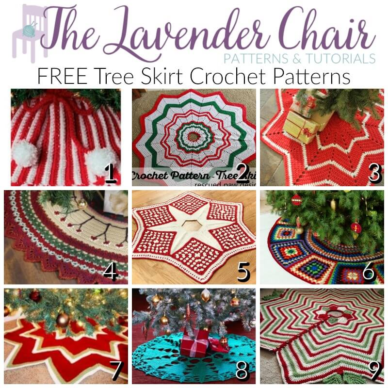 FREE Tree Skirt Crochet Patterns