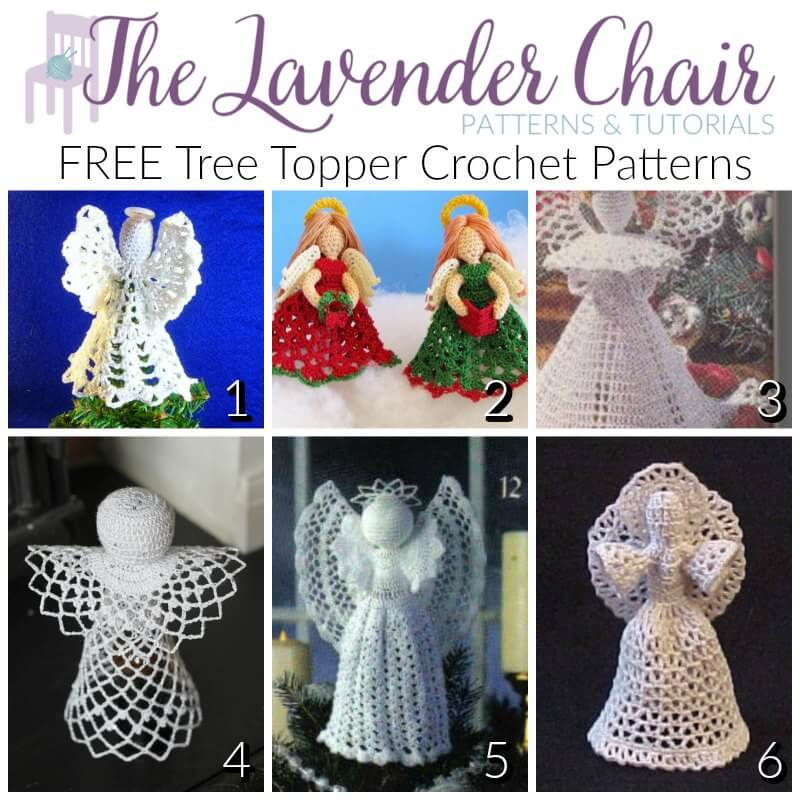 Festive and FREE Tree Topper Crochet Patterns
