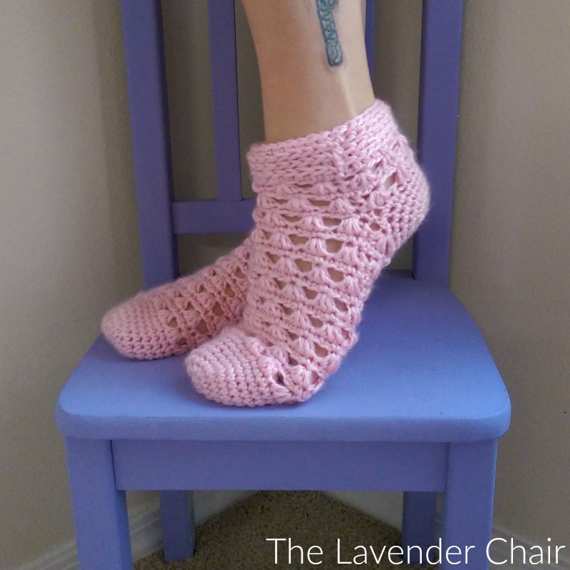 Lazy Daisy Socks Crochet Pattern