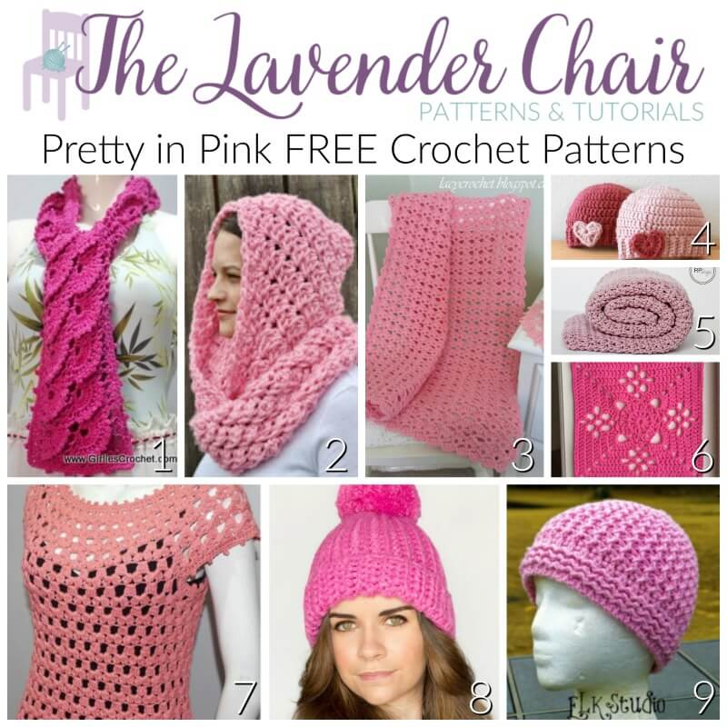 Pretty In Pink Free Crochet Patterns The Lavender Chair