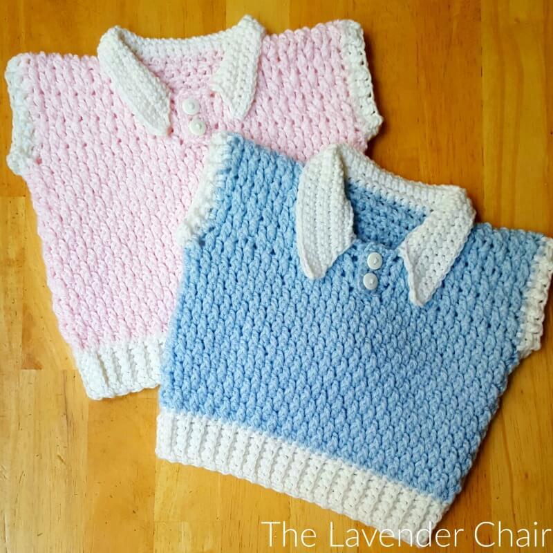 Brickwork Baby Vest Crochet Pattern