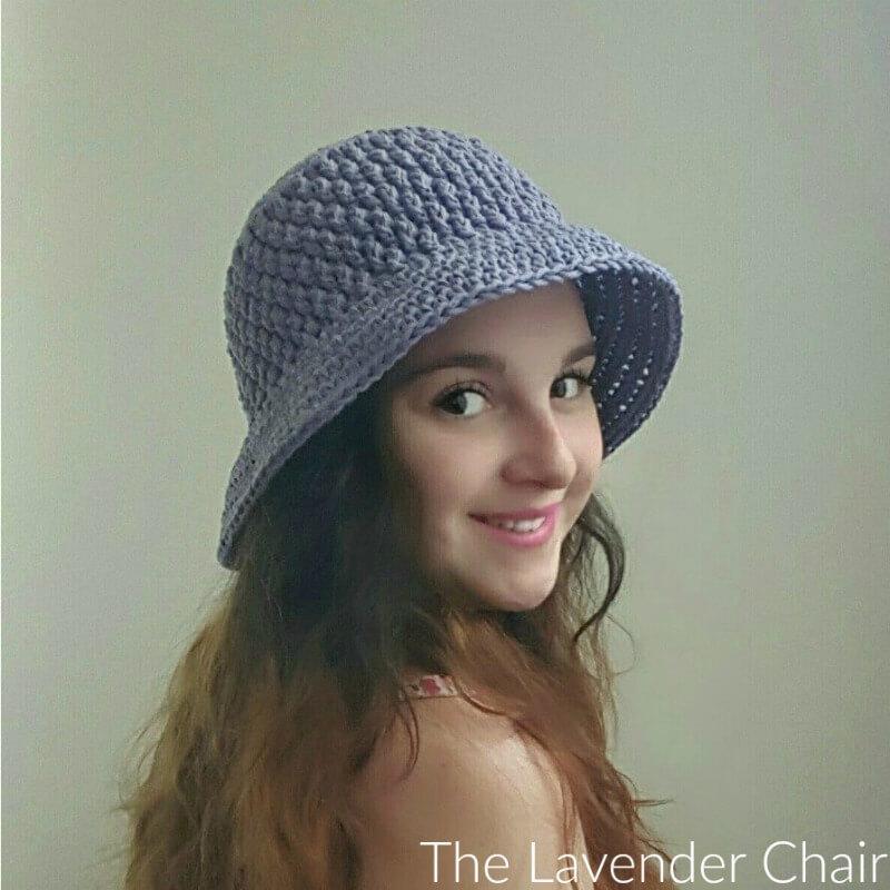 Brickwork summer sun hat adult crochet pattern the lavender chair dt1010fo
