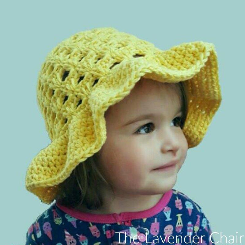 Lazy Daisy Floppy Sun Hat (Infant – Child) Crochet Pattern