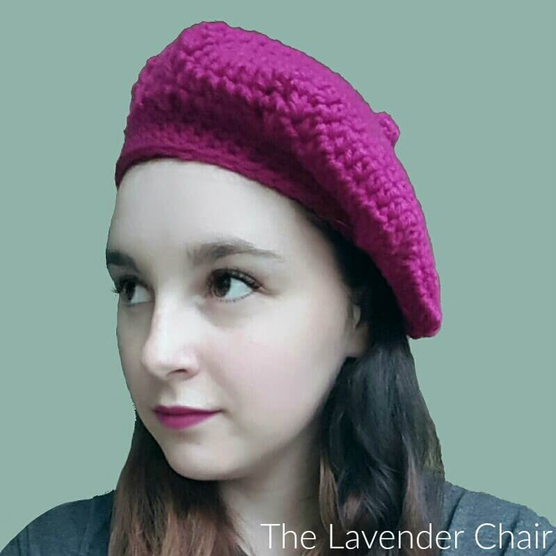 Raspberry Beret Crochet Pattern The Lavender Chair