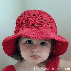 Weeping Willow Sun Hat for (Infant – Child) Crochet Pattern