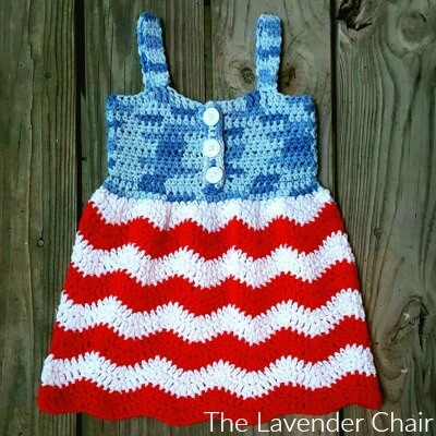 red white and blue jean dress crochet pattern - the lavender chair