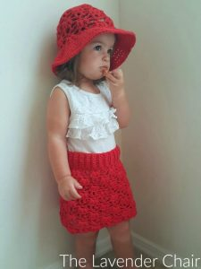 weeping willow skirt (infant - child) crochet pattern - the