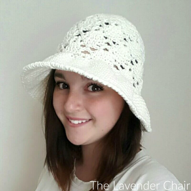 Vintage Sun Hat Adult Crochet Pattern The Lavender Chair