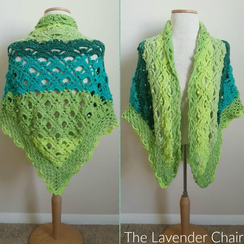 Gemstone Lace Shawl Crochet Pattern