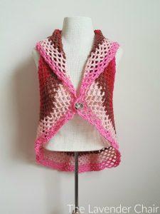 pocket full of posies circular vest crochet pattern - the lavender