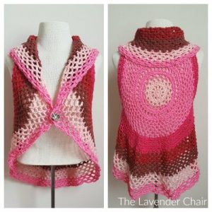 Pocket Full of Posies Circular Vest Crochet Pattern