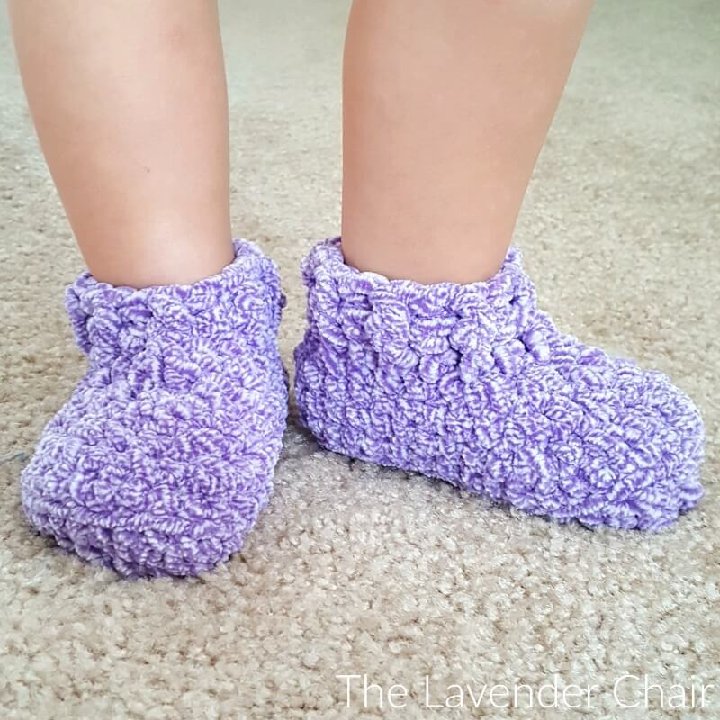 Little Cloud 9 Slippers Crochet Pattern