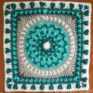 Peony Mandala Square Crochet Pattern