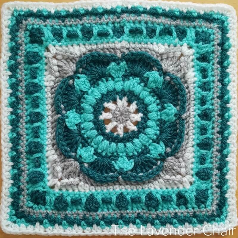Sea Flower Manadala Square Crochet Pattern