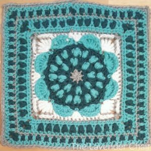 Sunflower Mandala Square Crochet Pattern