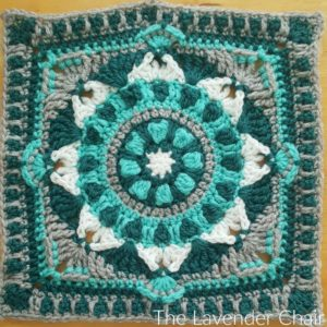 Starflower Mandala Square Crochet Pattern