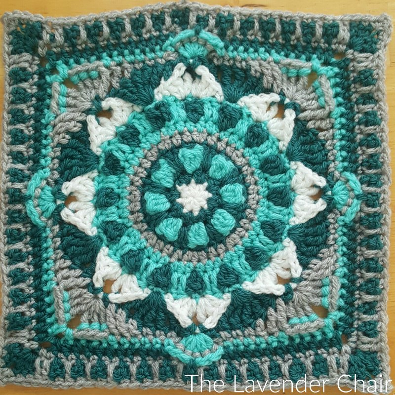 Starflower Mandala Square Crochet Pattern
