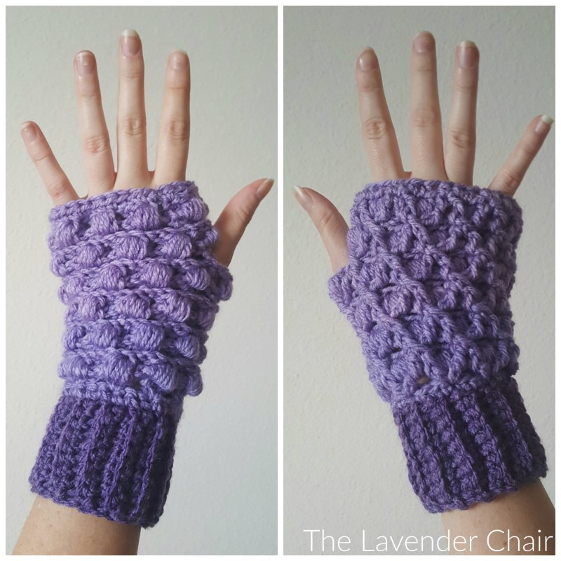 Reversible Lily's Fingerless Gloves Crochet Pattern