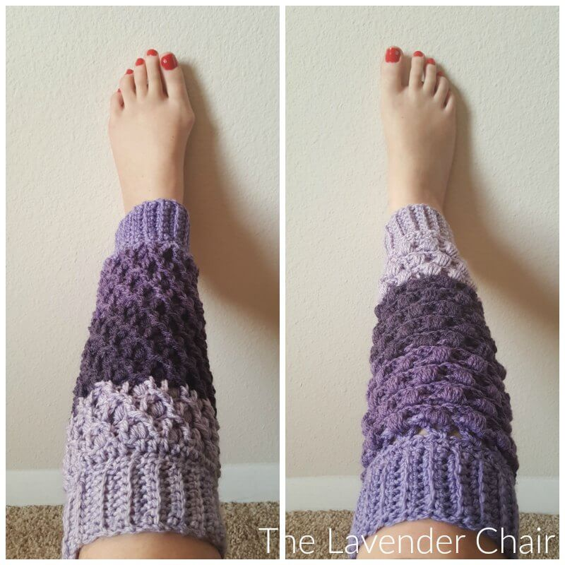Reversible Lily's Leg Warmers Crochet Pattern