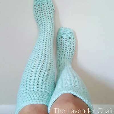 Valeries Knee High Socks Crochet Pattern The Lavender Chair