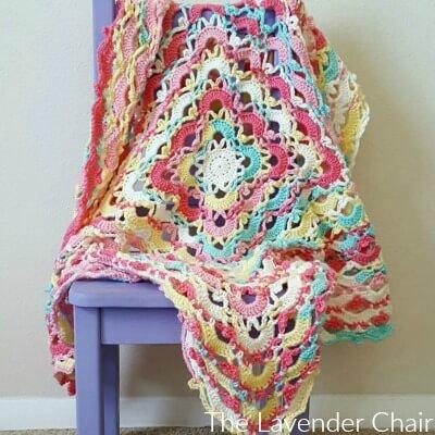 Gemstone Lace Blanket Crochet Pattern