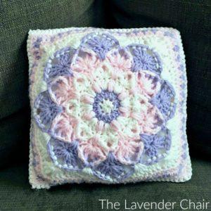 kaleidoscope lily pillow crochet pattern - the lavender chair