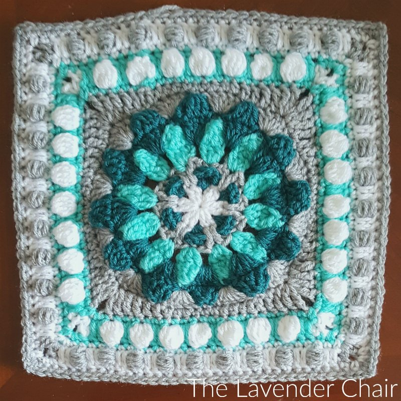 Magnolia Compass Mandala Square Crochet Pattern