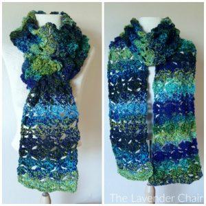 Puffs and Shells Super Scarf Crochet Pattern