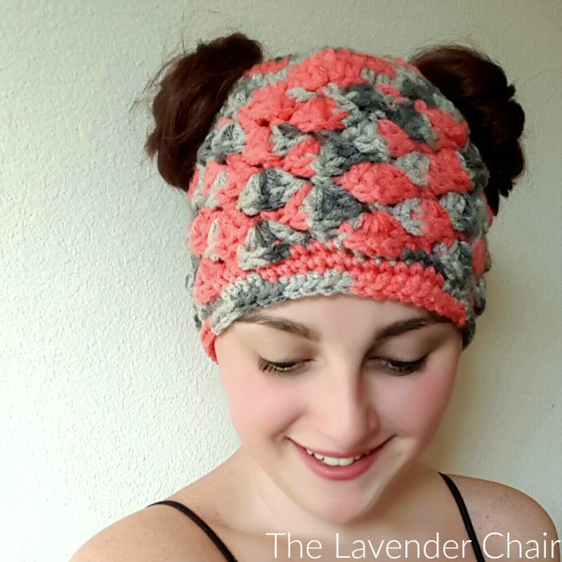Shelby's Double Bun Beanie Crochet Pattern