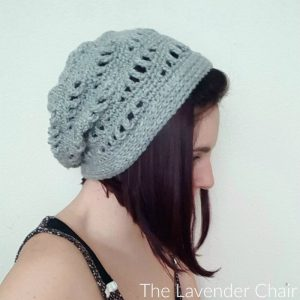 Lacy Waves Slouchy Beanie Crochet Pattern