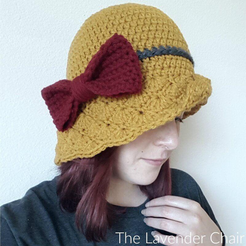 Simple shells cloche hat crochet pattern the lavender chair dt1010fo