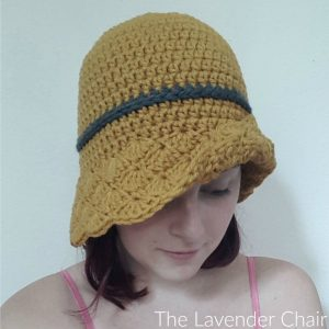 Simple shells cloche hat crochet pattern the lavender chair finish off leaving a long tail and wrap around to cinch bow and join to hat tags adult cloche crochet pattern dt1010fo